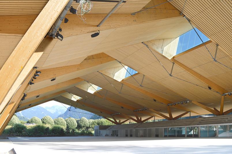 arbonis la patinoire couverte de samoens 74 prim e au prix national construction bois 2016