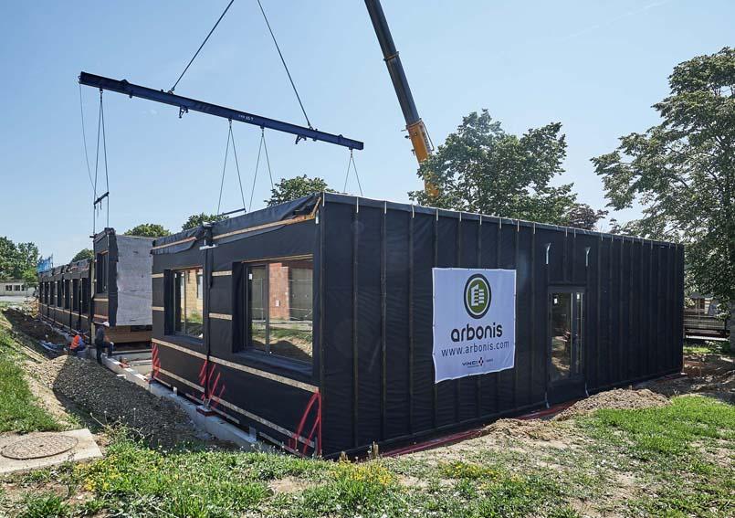 Arbonis construction modulaire tout bois pour le lyc e viticole de libourne montagne for Construction bois 35